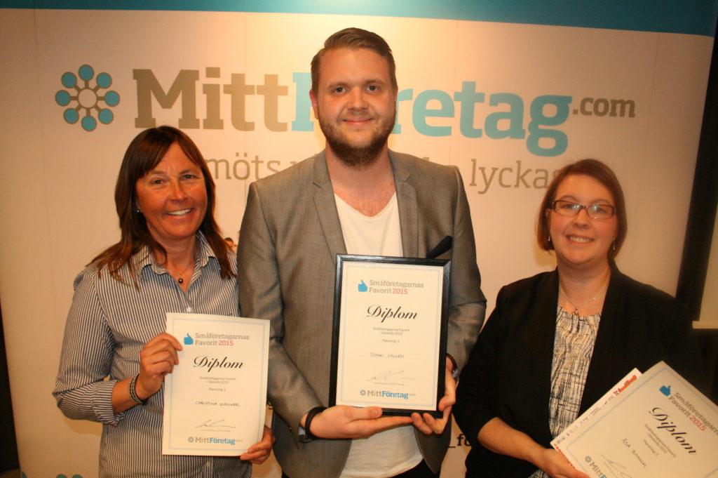 Vinnarna i Småföretagarnas favorit 2015