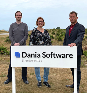 Per-Andersm och Åsa tillsammans med Mads Rosén från dania Software